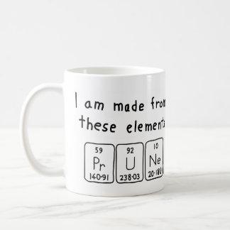 プルーン周期表の名前のマグ コーヒーマグカップ