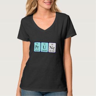 プルーン周期表の名前のワイシャツ Tシャツ