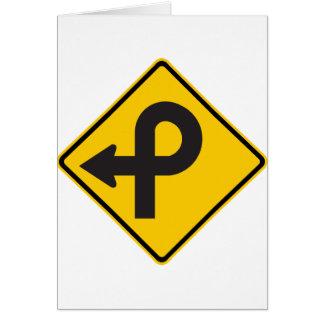 プレッツェルのループハイウェーの印 カード
