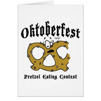 プレッツェルの食べ物のコンテストのオクトーバーフェストのギフト カード