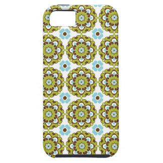 プレッピーなアラベスクのダマスク織のガーリーなプリントの花柄パターン iPhone SE/5/5s ケース