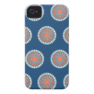 プレッピーなアラベスクの水玉模様は種族パターンに点を打ちます Case-Mate iPhone 4 ケース