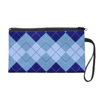 プレッピーな濃紺および空色パターン リストレット