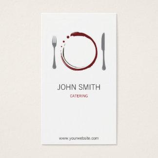 プレートとのシェフのレストランそしてケータリング 名刺