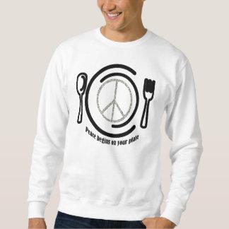 プレートのスエットシャツの平和 スウェットシャツ