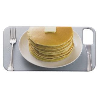 プレートのバターが付いているパンケーキの積み重ね iPhone SE/5/5s ケース
