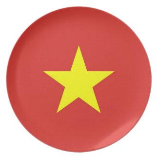 プレートのベトナムの旗 プレート