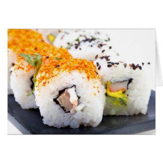 プレートの寿司 カード