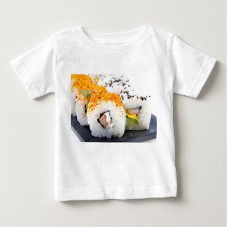 プレートの寿司 ベビーTシャツ