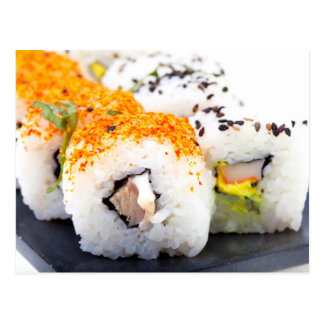 プレートの寿司 ポストカード