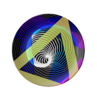 プレートの抽象美術 磁器プレート