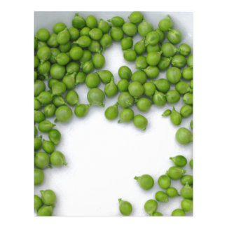 プレートの熟したグリーンピース レターヘッド
