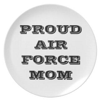 プレートの誇り高い空軍お母さん プレート
