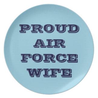 プレートの誇り高い空軍妻 プレート