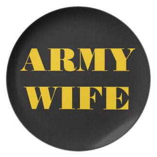 プレートの誇り高い軍隊の妻 プレート