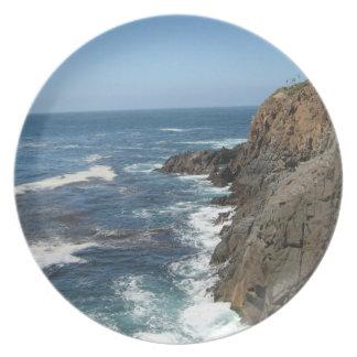 プレート美しい景色の沿岸バハ・カリフォルニア州 プレート
