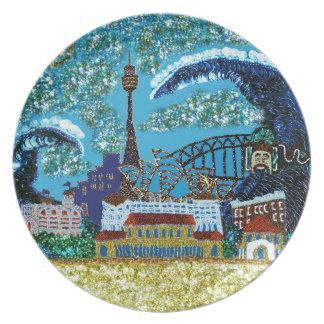 プレート|ルナBondi |のスパンコールの夢|シドニー プレート