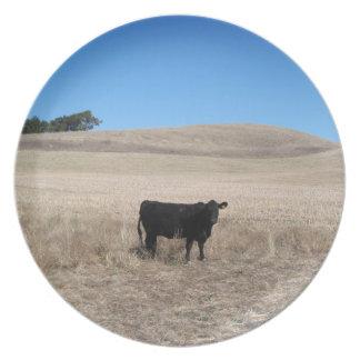 プレート: 秋の分野の牛 プレート