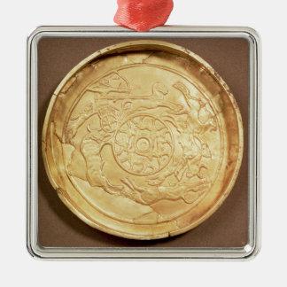 プレート(金ゴールド) メタルオーナメント