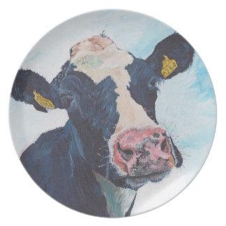プレート- Friesian牛 プレート