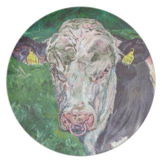 プレート- Friesian Bull プレート