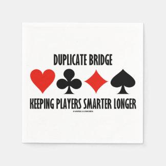 プレーヤーのより頭が切れるなより長い保つ重複した橋 スタンダードカクテルナプキン