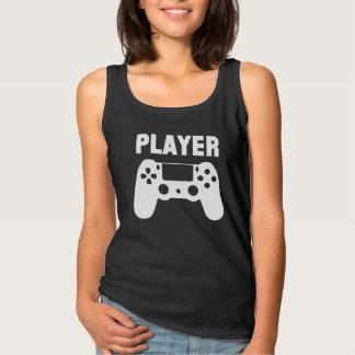プレーヤーのゲーマーのタンクトップ タンクトップ