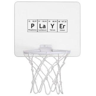 プレーヤーの周期表の要素の単語化学 ミニバスケットボールゴール