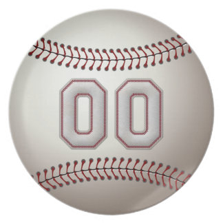 プレーヤー第00 -クールな野球のステッチ プレート