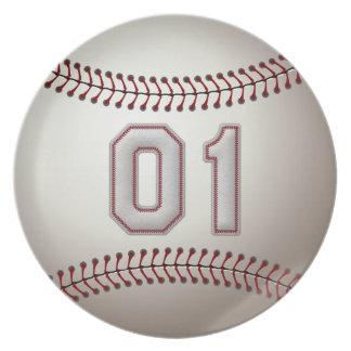 プレーヤー第01 -クールな野球のステッチ プレート
