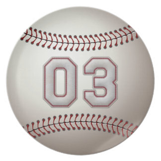 プレーヤー第03 -クールな野球のステッチ パーティー皿