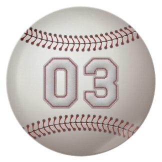 プレーヤー第03 -クールな野球のステッチ プレート