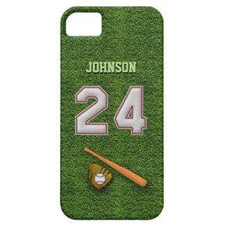 プレーヤー第24 -クールな野球のステッチ iPhone SE/5/5s ケース