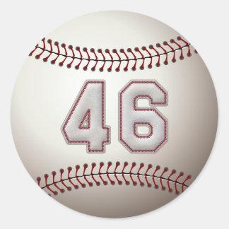 プレーヤー第46 -クールな野球のステッチ ラウンドシール