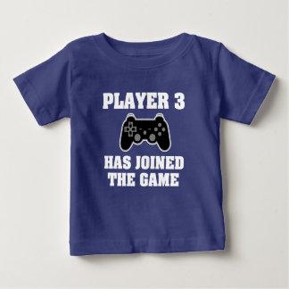 プレーヤー3はゲームのおもしろいな男の赤ちゃんのワイシャツを結合しました ベビーTシャツ
