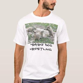 プレーリードッグのレスリング Tシャツ
