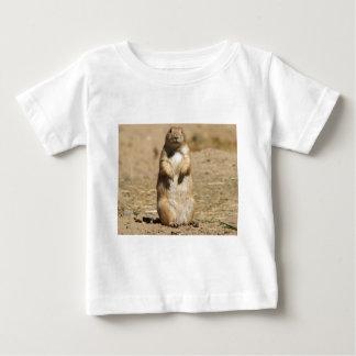 プレーリードッグの乳児のTシャツ ベビーTシャツ