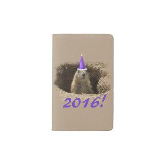 プレーリードッグの新年のノート ポケットMoleskineノートブック