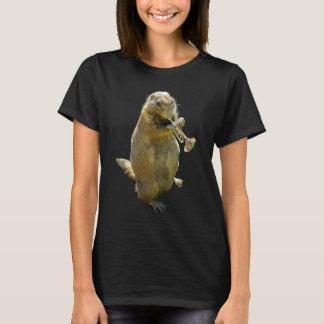 プレーリードッグのTシャツを遊ぶトランペット Tシャツ