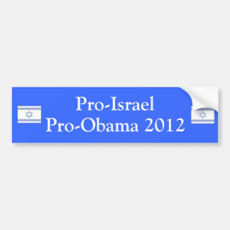 プロイスラエル共和国プロオバマ2012年 バンパーステッカー