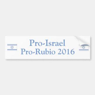 プロイスラエル共和国プロルビオ2016年 バンパーステッカー