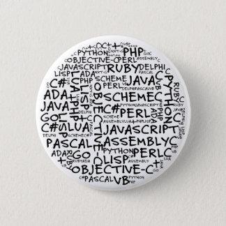 プログラマーに多数のプログラミングの技術があります 5.7CM 丸型バッジ