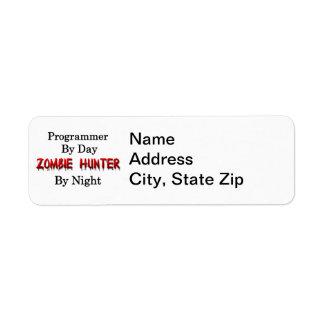 プログラマーまたはゾンビのハンター 返信用宛名ラベル
