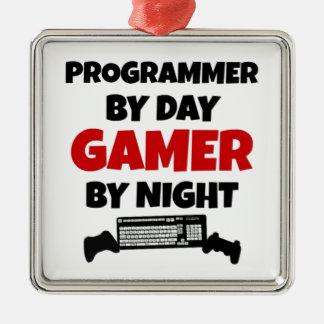 プログラマーゲーマー メタルオーナメント