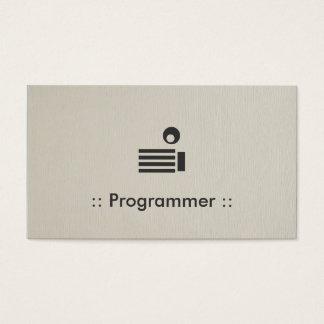 プログラマーシンプルでエレガントなプロフェッショナル 名刺