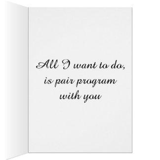 プログラマーバレンタインカード グリーティングカード