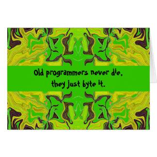 プログラマーユーモア グリーティングカード