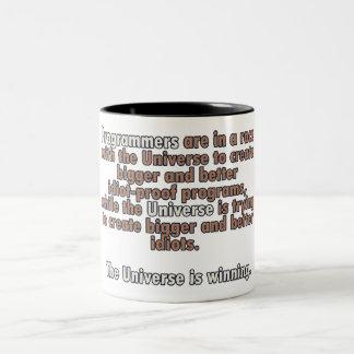 プログラマー対宇宙 ツートーンマグカップ