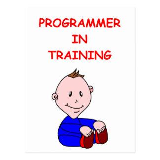 プログラマー ポストカード