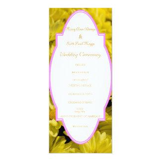 プログラムを結婚する黄色い菊 カード